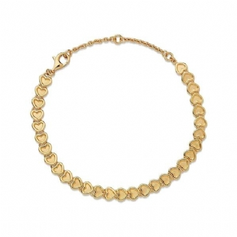 Links of London Yellow Gold Plated Endless Love Bracelet 5010.4242