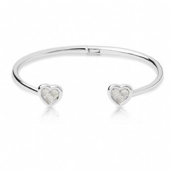 Links of London Open Heart Moonstone Cuff Bangle 5010.4238