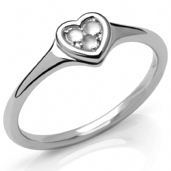 Links of London Silver Open Heart Moonstone Ring Size L 5045.7654