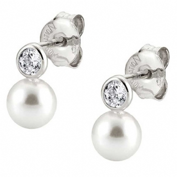 Nomination Bella Pearl Drops with Crystal Earrings 142662/010