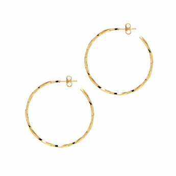 The Hoop Station La Lago Di Como 38mm Sterling Silver and 18ct Gold Vermeil Hoops H27