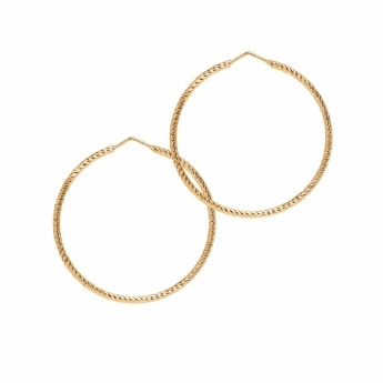 The Hoop Station La Roma Sterling Silver with Gold Vermeil 45mm Hoops H100Y