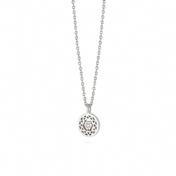 Daisy London Sparkle Throat Chakra Pendant and Chain NCHK5019