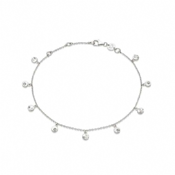 Daisy London Isla Collection Silver Shell Anklet SA01_SLV