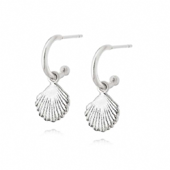 Daisy London Isla Collection Silver Shell Drop Earrings SE06_SLV