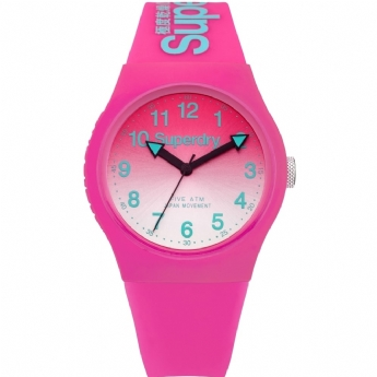 Superdry Pink and Mint Urban Lazer Watch SYL198PN