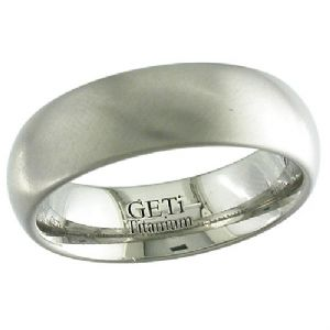 GETi Titanium 6mm Satin Dome Ring