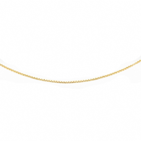 9ct Yellow Gold 16'' Box Link Chain