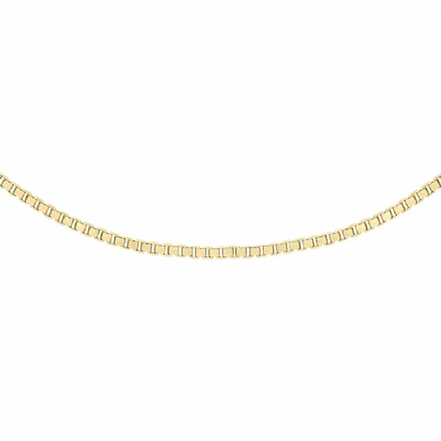 9ct Yellow Gold Adjustable Box Link Chain 16''-18''