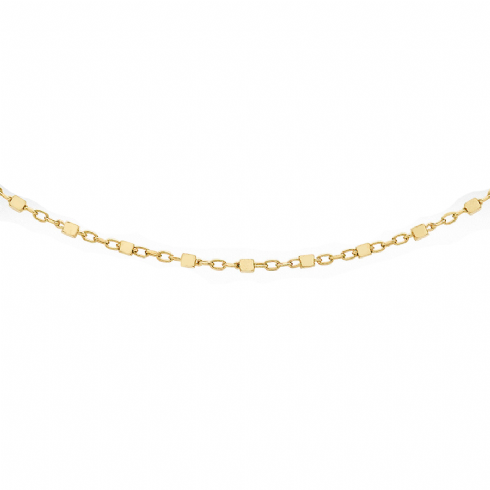 9ct Yellow Gold 20'' Cube Trace Link Chain