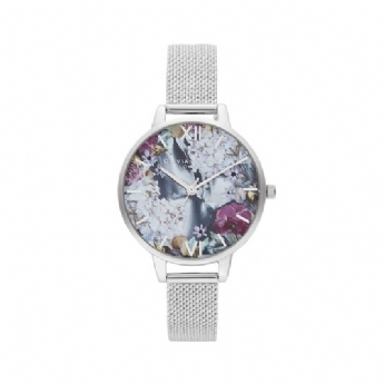 Olivia Burton 'Under The Sea' Stainless Steel Mother of Pearl Dial Watch OB16US11