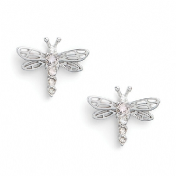 Olivia Burton Sterling Silver Bejewelled Dragonfly Stud Earrings OBJAME144