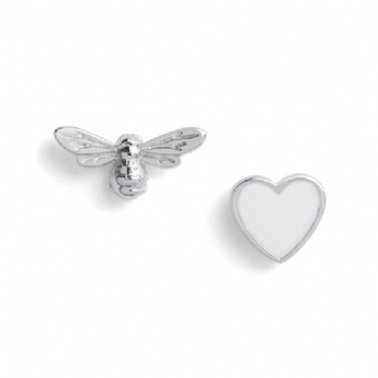Olivia Burton Sterling Silver You Have My Heart Studs OBJLHE46