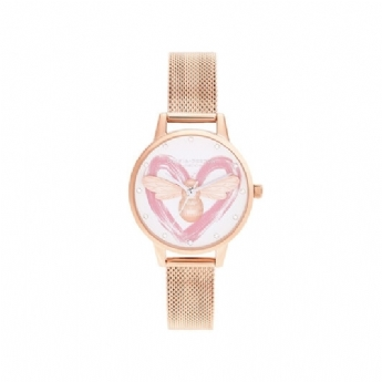Olivia Burton Rose Vermeil You Have My Heart Bee Watch OB16FB01