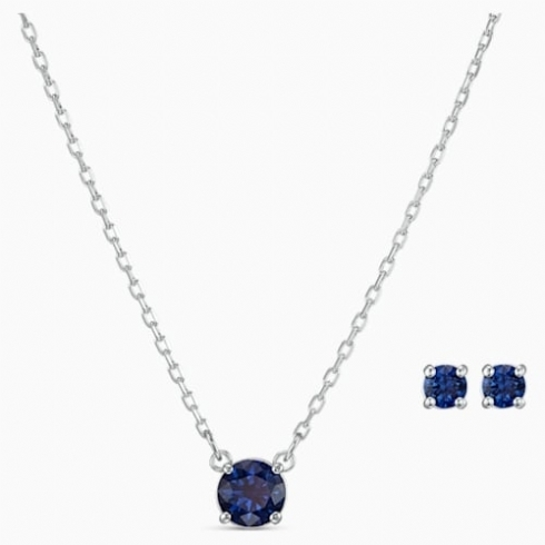 Swarovski Attract Blue Crystal Pendant and Earring Set 5536554