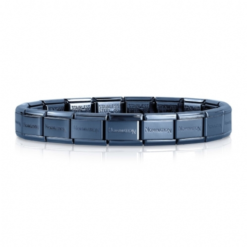 Nomination Blue Plated Stainless Steel 18 Link Bracelet