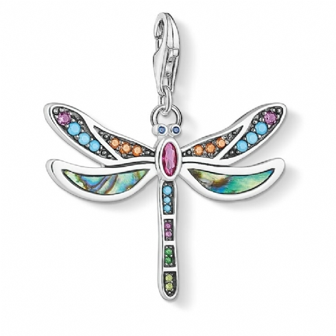 Thomas Sabo Sterling Silver and Cubic Zirconia Mother of Pearl Abalone Pendant 1757