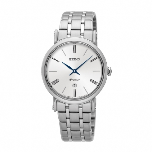 Seiko Ladies Stainless Steel Premier Bracelet Watch SXB429P1