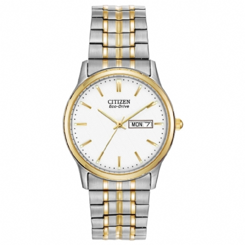 Citizen Gents Two-Tone Expanding Bracelet Watch with Day/Date Window BM8454/93A