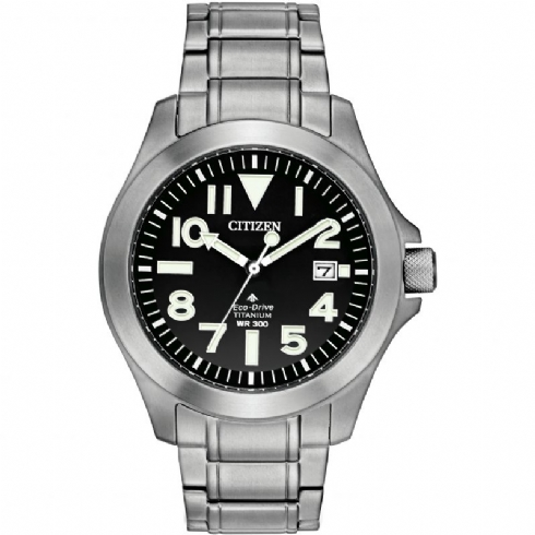 Citizen Gent's Eco-Drive Titanium 300m Diver's Watch BN0118/55E