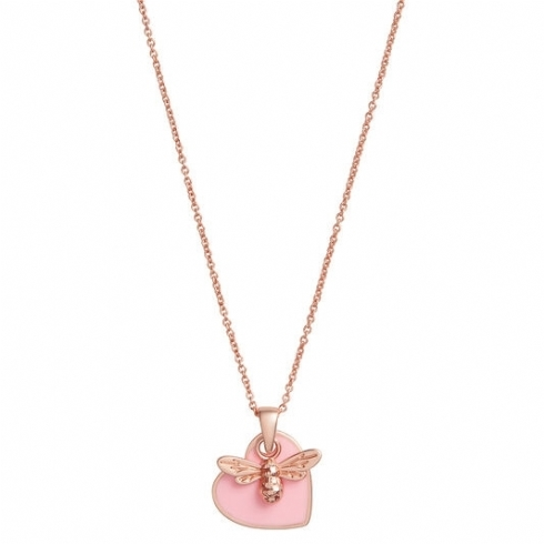 Olivia Burton You Have My Heart Pink & Rose Tone Necklace OBJLHN16