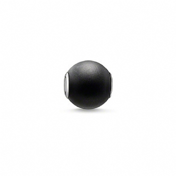 Thomas Sabo Polished Black Obsidian Karma Bead