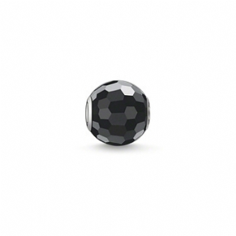 Thomas Sabo Faceted Obsidian Karma Bead