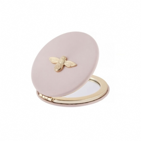 Olivia Burton 3D Bee Blush and Gold Plate Compact Mirror OB16ACS02