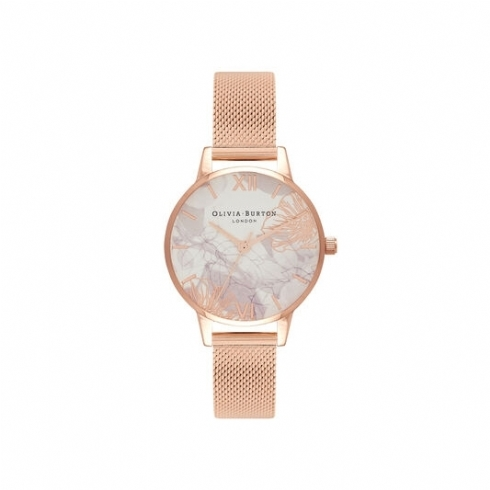 Olivia Burton Abstract Florals Rose Plate Watch OB16VM11