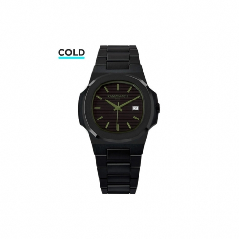 Kama Watch Vintage Force Black and Military Green Colour Changing Watch KWP26