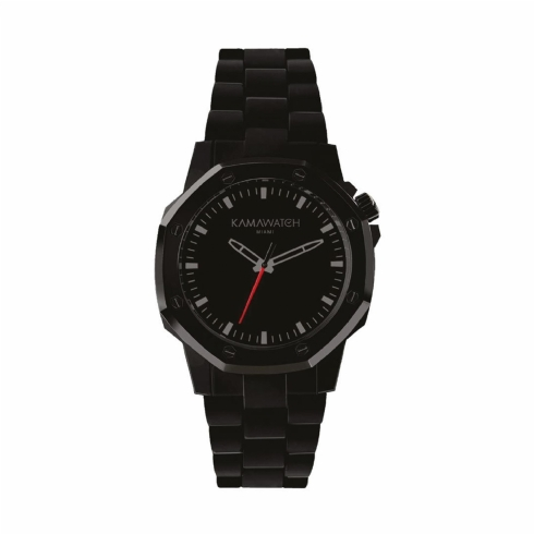 Kama Watch Space Black Fixed Colour Bracelet Watch KWPF31