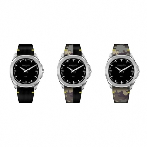 Kama Royal Colour Changing Leather Strap Watch KWPM34
