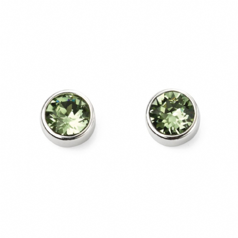 Sterling Silver Crystal August Birthstone Stud Earrings