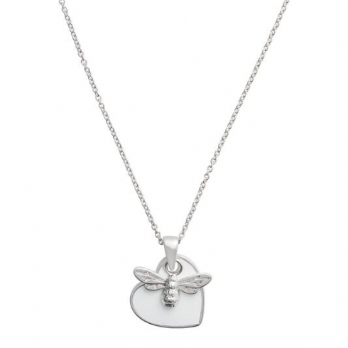 Olivia Burton Silver Tone You Have My Heart Bee Necklace OBJLHN18