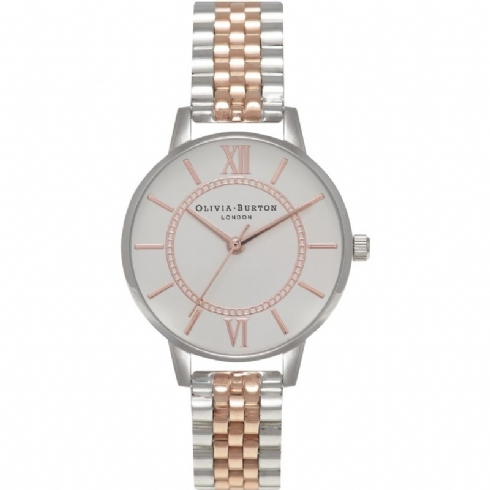 Olivia Burton Two Tone Stainless Steel and Rose Tone Wonderland Watch OB15WD40