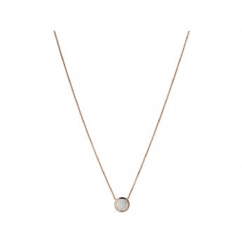 Links of London Rose Vermeil Pave Round Diamond Essentials Necklet