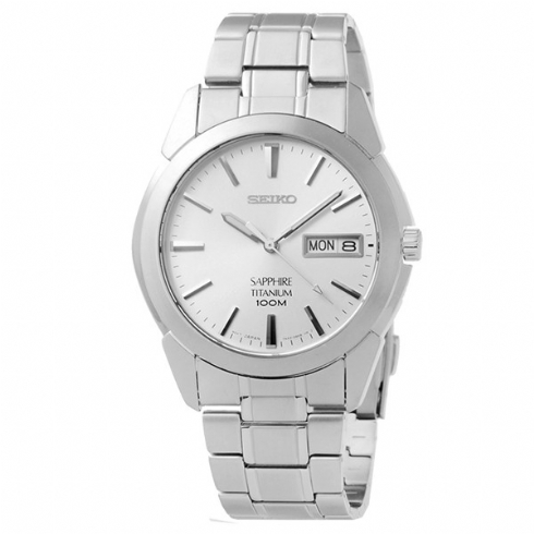 Seiko Mens Titanium Watch with Day/Date Window SGG727P1