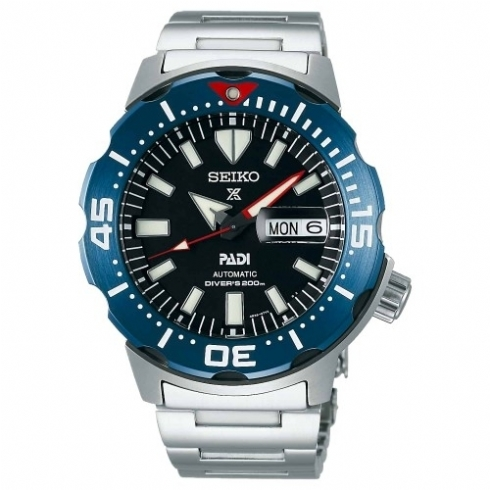 Seiko Special Edition Blue 'Monster' Padi Automatic Diver's Watch SRPE27K1
